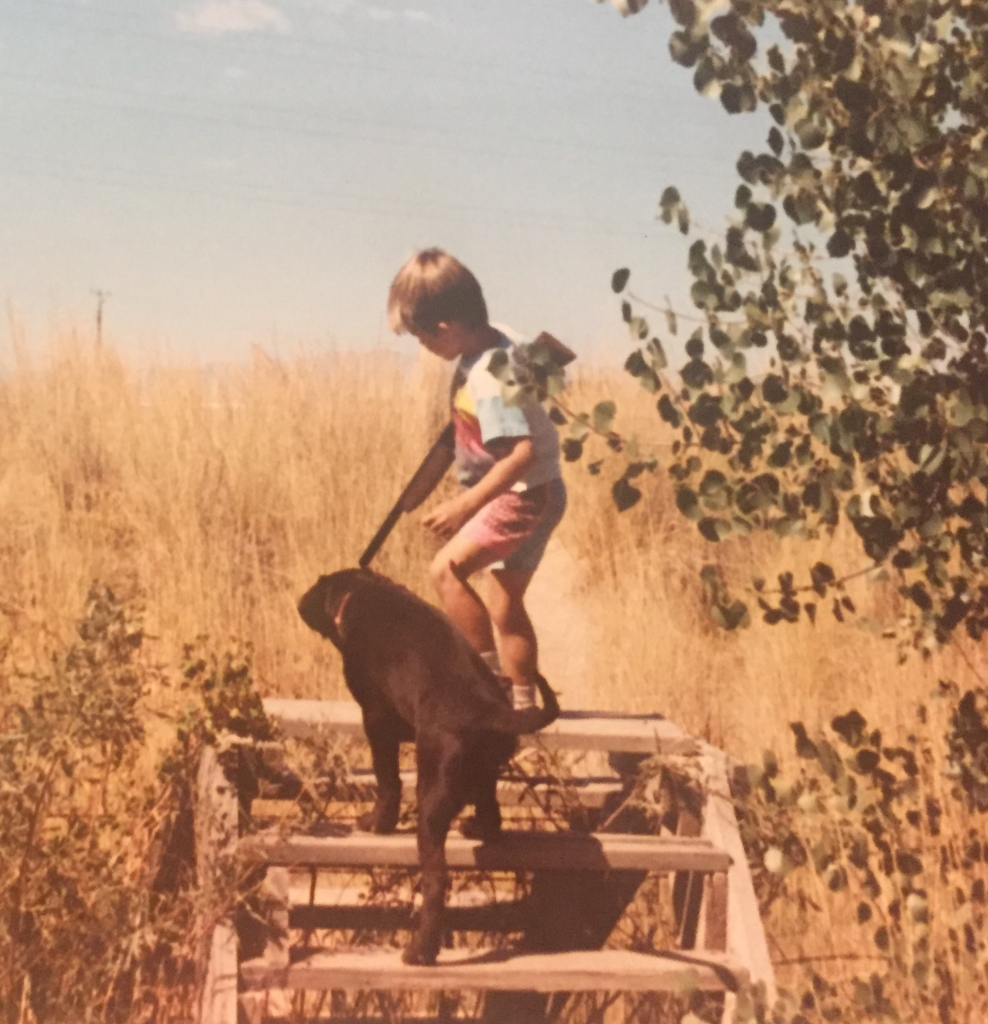 """Take your boy hunting instead of hunting for your boy."" That's what ATA Delegate Ed Wehking thought of when he found this picture he took at Ogden GC around 1990."