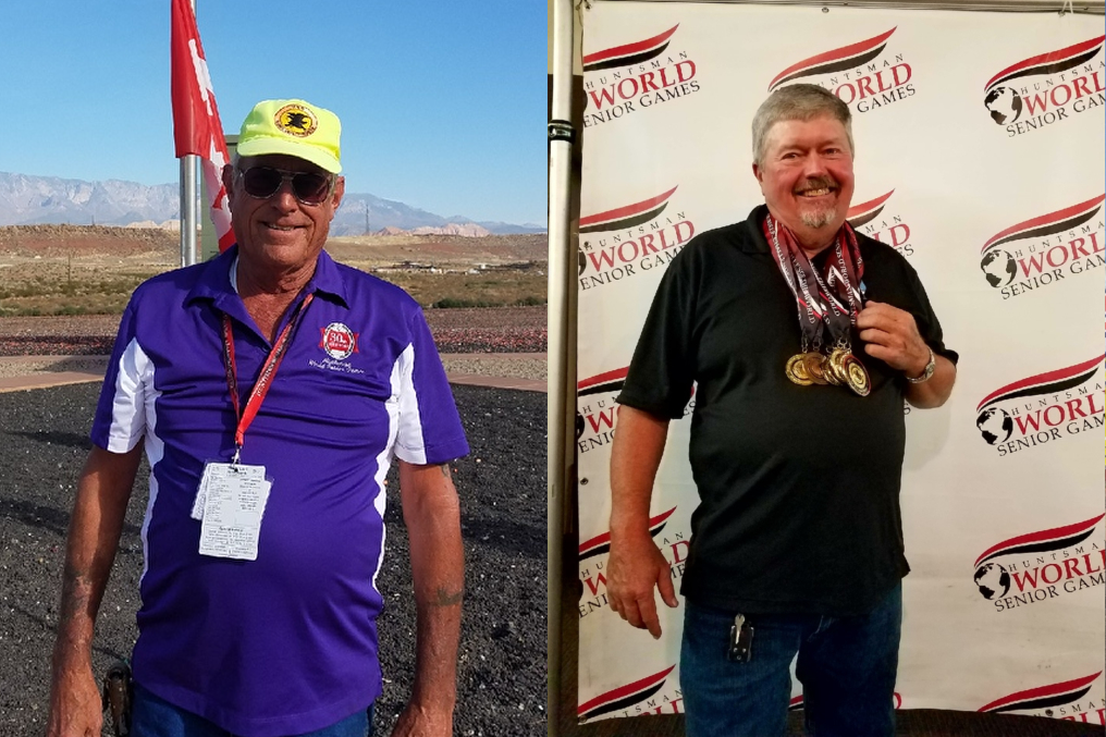 During the last nine years, Harold Curry has been the driving force behind the shotgun portion of the Huntsman World Senior Games, while Joe Sudbury has won numerous trophies during his eight years of participating in the competition.