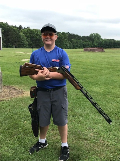 Hunter Knotwell won the Handicap Championship at Wisconsin's southwestern zone shoot.