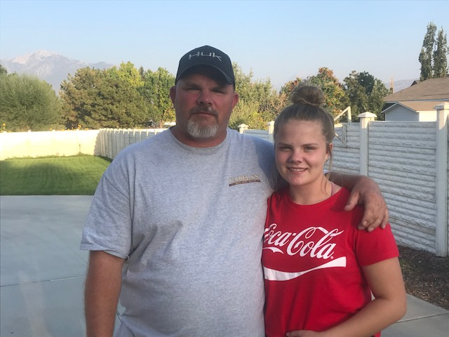 Trent Van Dam won four trophies at Vernal's $500 Bill Handicap. Daughter Shay Lee was with him at the tournament cheering him on.