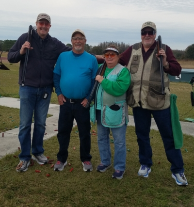 New Jersey shooters Duncan Connor, Craig Gasparine, Christine Gasparine and James Lavelle escaped the Polar Vortex in January to take part in the second Silver Dollar Open at Silver Dollar SC in Odessa, FL.