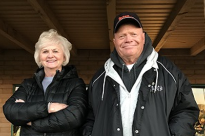 Margie and Ray Stafford are a fixture at major tournaments, with Ray competing, and often winning, and Margie enjoying time with friends.