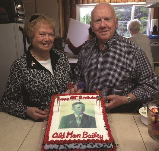 Paul Bailey, with wife Yvonne, celebrating his 85th birthday in 2018. Paul is the featured Shooter Profile on shootatlantic.com